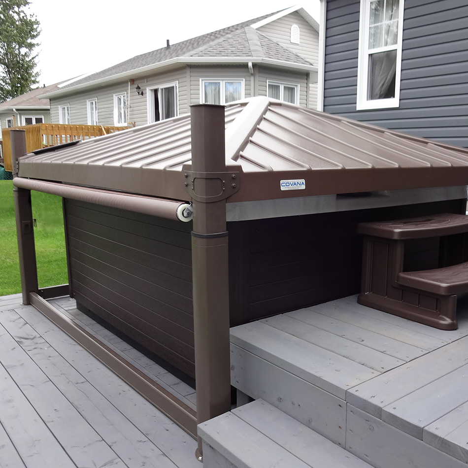 Covana Automated Hot Tub Covers Crown Spas Amp Pools Winnipeg
