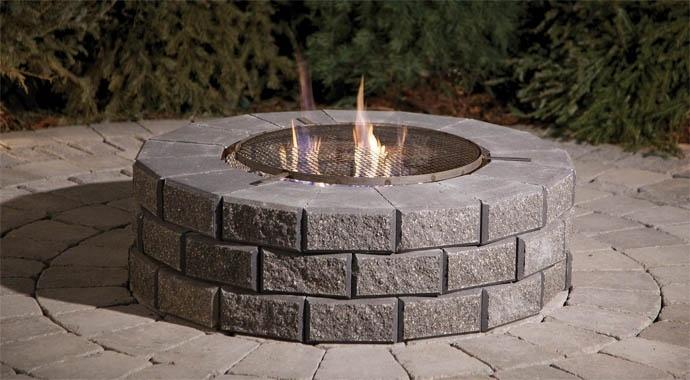Stone Oasis Circle Firepit Crown Spas Amp Pools