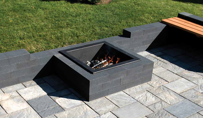 Stone Oasis Modern Firepit - Stone Oasis Modern Firepit – Crown Spas & Pools