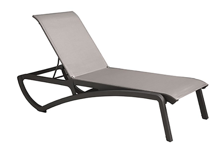 Sunrise Collection Chaise in Black