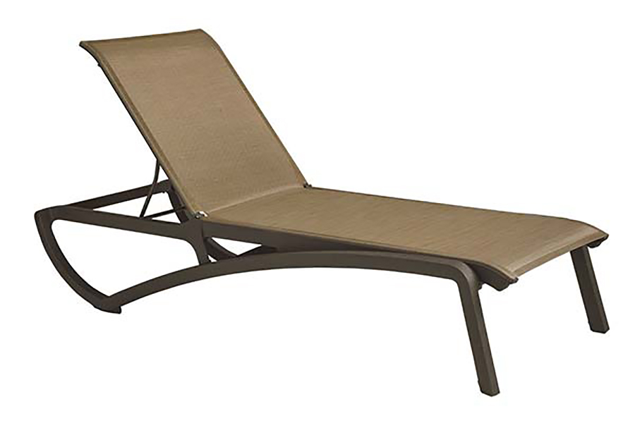 Sunset Collection Chaise in Cognac