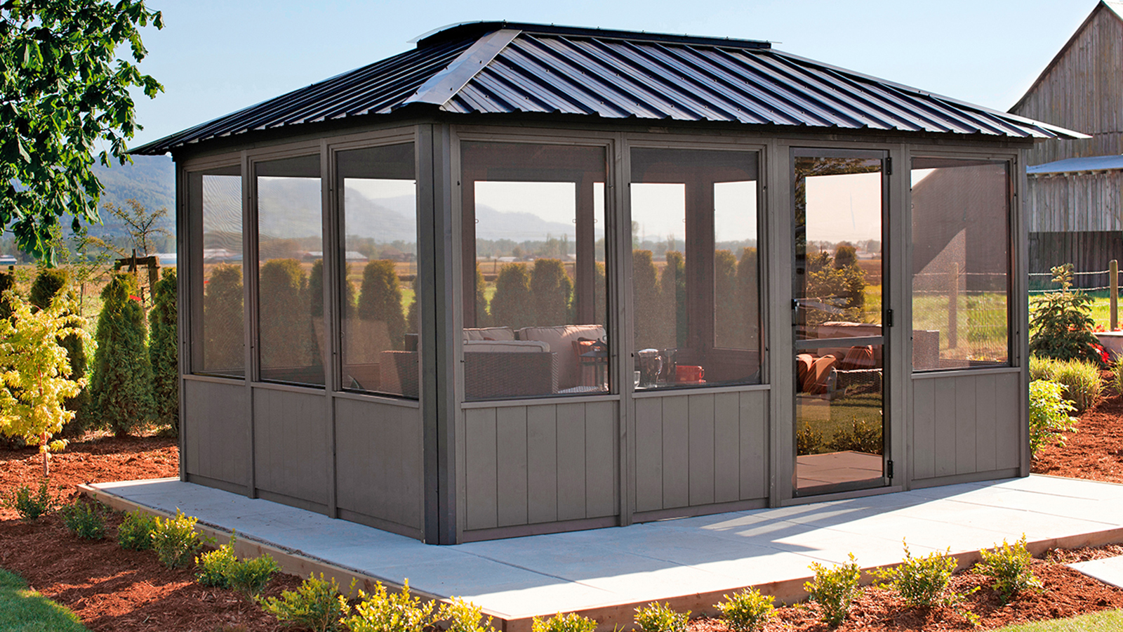Okanagan Enclosed Gazebo – Crown Spas & Pools