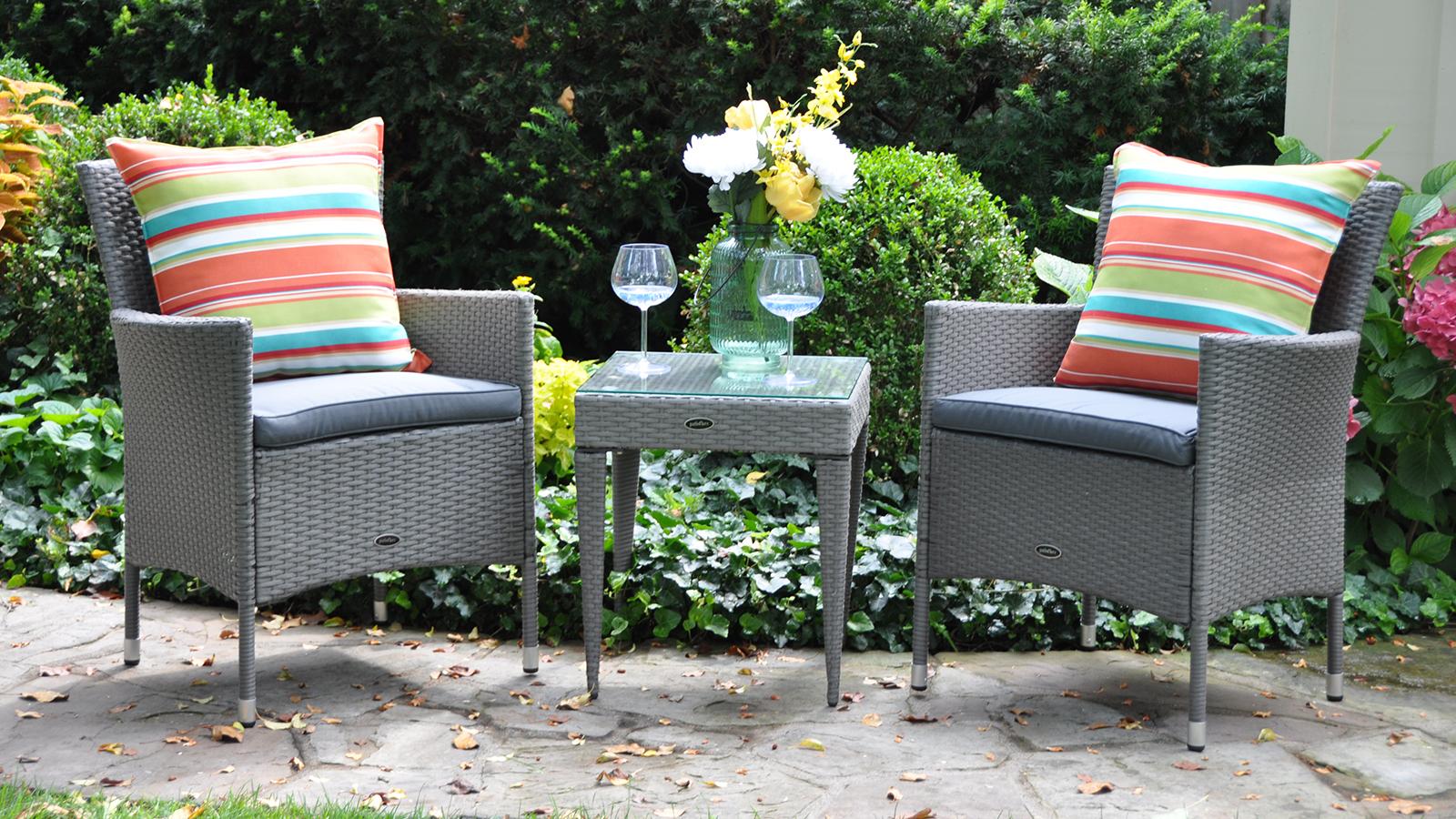 Outdoor patio bar bistro sets