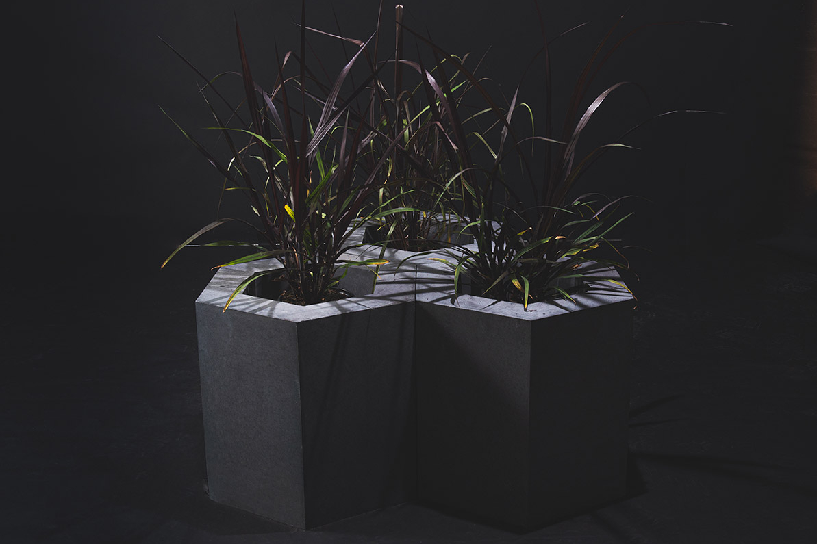 NEW! Hexagon Planters, Bench & Art Piece